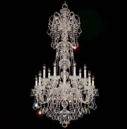 Art Church Australia - Led extra long Modern Crystal Chandelier Lighting Fixture 15 lights hotel living room Large Clear Crystal Lighting church Lustres de cristal