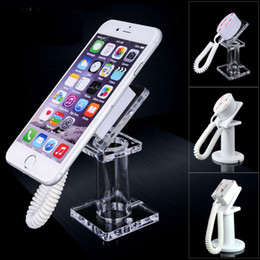 acrylic holder phone 2019 - 50pcs Acrylic mobile phone security display stand holder with retractable cable anti-theft for all handhelds exhibit mp3