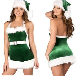 Wholesale hot santa costumes women online – ideas Hot Sale Cosplay Christmas Party Dress Women Gift Sexy Skirt Christmas Hat Hollween Ladies Dress Santa Claus Costumes Free Size