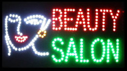 salon neon signs Canada - Super Bright LED Neon Light Animated LED BEAUTY SALON Sign BILLBOARD Electronic animated Sign 55cm*33cm indoor LED sign