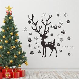$enCountryForm.capitalKeyWord Canada - Merry Christmas deer flower Snowflake wall sticker xmas43 Chirstmas party window decals decoration shop store