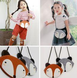$enCountryForm.capitalKeyWord Canada - 2016 Baby Cute Fox Bag Hot Fox purse Handbag Wallet 12*13 CM Children Girls Fashion Cartoon One-side Non-woven Bags B3998