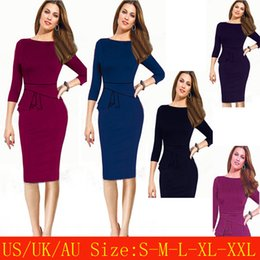 $enCountryForm.capitalKeyWord NZ - Women's Clothing Work Dresses Autumn Spring Winter Plus Size Knee-Length Bodycon Pencil Dresses Clubwear Party Dress