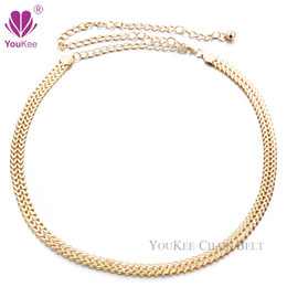 gold metal chain belt Canada - Hot Sale Belly Dance Metal Ladies Gold Chain Belt Cinto Feminino Cinturones Belts For Women Accessories(BL-454) YouKee Belt