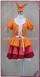 Orange Halloween Costumes Canada - New Arrival Custom Made Possession Story Ononoki Yotsugi Dress Cosplay Costume Halloween Party Event Coser Cosplayer