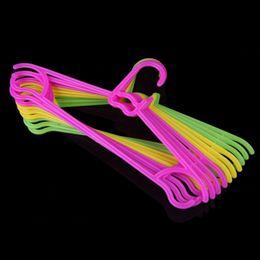 $enCountryForm.capitalKeyWord NZ - 10Pcs Lot Non-Slip Plastic Clothes Hanger Kids Children Toddler Baby Clothes Coat Hangers Hook