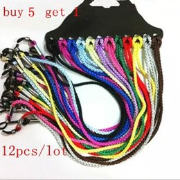 Discount sunglasses cords - Wholesale-12pcs lot Eyeglasses Eyewear Sunglasses Reading Glasses Cords Holder Chain String free shipping Buy 5 lot send