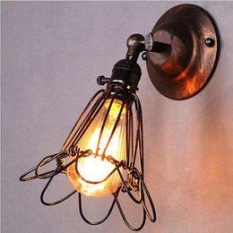 $enCountryForm.capitalKeyWord Canada - 2015 New Modern Vintage Birdcage Wall Light Lampshade Metal Industrial Retro Lamp Shade Holder For E27 Light Bulb