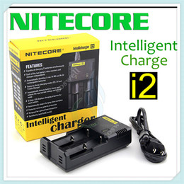 nitecore intellicharger i2 battery charger Canada - Original Nitecore I2 Universal Charger 16340 18350 18650 14500 26650 E Cigarette mods Battery Multi Function Intellicharger US UK EU AU PLUG