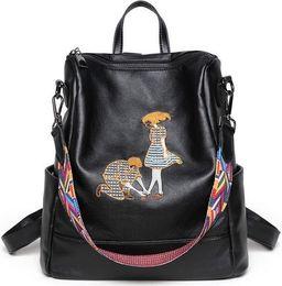 leopard print wallet genuine leather 2019 - Backpack shoulder bags wholesale Multifunctional bag original designer classical embroidery handbag women tote purse IT