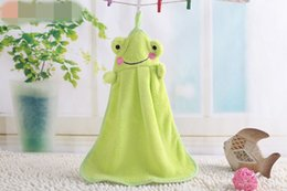 $enCountryForm.capitalKeyWord Canada - 1pcs Nursery Hand Towel Soft Plush Fabric Cartoon Animal Hanging Wipe Bathing Towel 6 Colors Available TT95