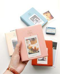 Neuer 64 Taschen Album-Kasten-Speicher für Foto FujiFilm Instax MiniFilm Größe 4 färbt heißes sela freies Verschiffen