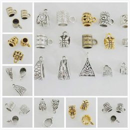 gold silver mix beads NZ - Mixed Silver Gold Bronze Mixed Connectors Spacer Bail Beads Pendant For Jewelry Making