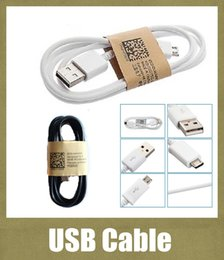 Cell Phone Charge Cable Canada - cell phone usb cable charging cable 1m  3 ft fit for v8 samsung 3 s4 s5 galaxy note 3 HTC Huawei black white CAB001