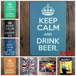 "$enCountryForm.capitalKeyWord Canada - Metal Wall ""We Can Do It!"" ""KEEP CALM AND DRINK WHISKY ""in Signs Home Decor House Office Restaurant Bar Metal Painting Art 20x30cm"