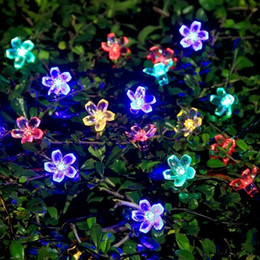 $enCountryForm.capitalKeyWord Australia - Solar Energy LED String Light 7M Outdoor Led Copper Wire Colourful Lotus Flowers String Lights For Christmas Holiday Party Light
