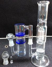 Bong Bowl Adapter Canada - glasscity design combination glass bong 6 arms recycler honey main body with 3 honey comb and turbo joint glass adapter bowl free shipping