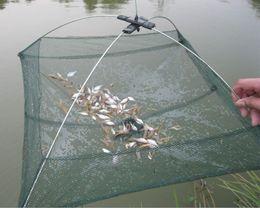 Crab Trap Bait Canada - 60*60cm Foldable Fishing Net Shrimp Crab Trap Nylon Fishing Network Cast Net Dip Mesh Crawdad Minnow Bait Trap Fishing Nets