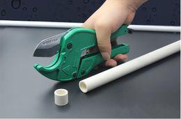 Discount hose body - 42mm Plastic Pipe Cutter PVC PU PP PE Hose Water Tube Scissors Aluminum Alloy Body Ratcheting Cutting Hand Tools