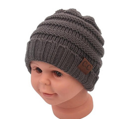 girls crochet hats UK - 2017 New Fashion Winter Cap For Children Hat Skullies Beanies Baby Hat For Girls Cap Winter Hat For Boys Baby Cap G1076