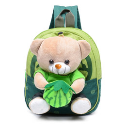 Soft toyS School bagS online shopping - Kindergarten Baby Cartoon Bear School Bags Kids Applique Plush Toy Backpacks Mini Toddler Book Backpack Bag
