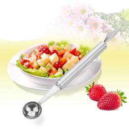 $enCountryForm.capitalKeyWord Australia - Multifunctional double Head ball opener stainless steel fruit carving knife ice cream ball opener Fruit Spoon