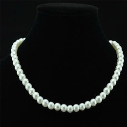 Wholesale Fashion Wedding Fake Faux pearl beads necklaces Bride Bridesmaids engagement pearls Beaded Chains For women s wedding Party Jewelry Gift