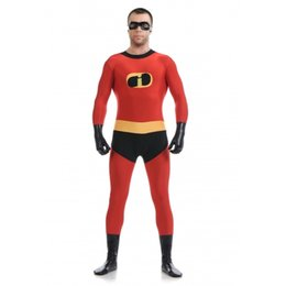 Superman Lycra Spandex Pas Cher-The Incredibles - vêtements incroyables pour hommes Superman costume Halloween Cosplay Party Prom Zentai Suit