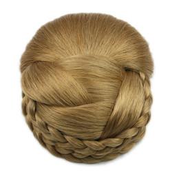 $enCountryForm.capitalKeyWord NZ - 2017 6 Color Synthetic Hair Black Braid Clip in Hair Donut Roller Woman's Hairpieces
