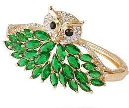 Ingrosso più colore cristallo gufo braccialetto delle donne xgspc)