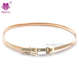 ladies chain belts Australia - Gold Elastic Chain Belts For Women Designer Belts Female Silver Metal Chain Belt Ladies Cintos Femininos(BL-100) YouKee Belt
