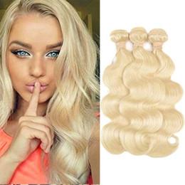 $enCountryForm.capitalKeyWord Australia - Brazilian Body Wave Hair Grade 8A Color #613 Bleach Blonde Human Hair Weave Bundles Brazilian Hair Extensions 3 Pcs 10-30 Inch Double Wefts