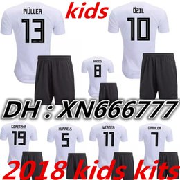 1218c1417dc kids kits 2018 Germany World Cup OZIL MULLER GOTZE HUMMELS KROOS BOATENG  REUS boy kit SOCCER JERSEY 18 19 Home Football Shirts jerseys