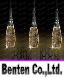 Modern Brief Restaurant LED Lights Bubble Crystal Pendant Light Bar Work Table Living Room Lighting Lamps LLFA1067