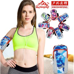 $enCountryForm.capitalKeyWord Canada - 6inch Unisex Camouflage Arm Belt Bag Wrist Pouch Adjustable Waterproof Phone Pack Outdoor Sports Bags for Running Cycling Hiking