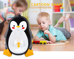$enCountryForm.capitalKeyWord NZ - Baby Boys Standing Urinal Penguin Shape Wall-Mounted Urinals Toilet Training Children Stand Vertical Urinal Potty Suction Cup