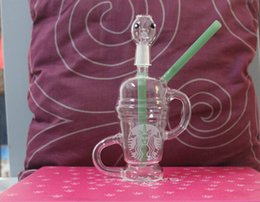 Dabuccino Recycler Bongs Canada - 14.5mm Dabuccino Recycler similar with Hitman Glass x Evol Glass Sand Blast Limited Edition Glass Bongs 2015