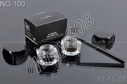 Gel Eyes Liner Canada - Factory Direct DHL Free Shipping New Makeup Eyes 5.5g Fluidline Eye Liner Gel Will Brush!Black Brown