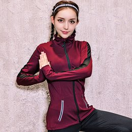 Barato Terno De Malha Respirável-Breathable Women Mesh Patchwork Sport Suit Zipper Yoga Top Sportswear Camisa Running Shirt Gym Fitness Vestuário Sports Shirt Running Jacket