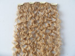 Curl blonde human hair online shopping - new brazilian virgin remy curly hair weft clip in natural kinky curl weaves unprocessed blonde human extensions hair