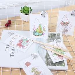 China Wholesale- 5pcs lot Kawaii Flower house story greeting card Plant flower card Bless greeting cards Stationery Envelope Message Card supplier story cards suppliers