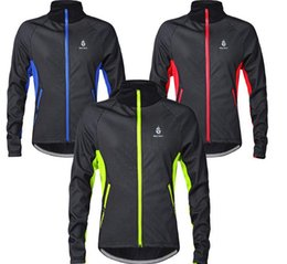 Discount winter cycling clothing - Cycling Riding Jerseys Jackets WOLFBIKE MenThermal Fleece Winter warm Soft Shell Coat outdoor sports Bike ski hiking Win