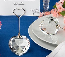 $enCountryForm.capitalKeyWord Canada - 5pcs Heart Crystal Name Number Table Place Card Holder Wedding Party Favor