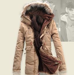 $enCountryForm.capitalKeyWord Canada - Mens Clothing for Winter 2015 Mens Casual Increase Plus Cotton Padded Patchwork Hooded Warm Jacket Coats Long Fur Collar Men Parkas Coat