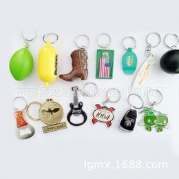 $enCountryForm.capitalKeyWord Australia - Manufacturers customized creative metal keychain, key ring wholesale acrylic key buckle, small gift pendant key chain