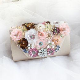 wedding bridal hand bags ladies handbags NZ - Exclusive Original Sequin Flowers Bridal Handbags For Wedding Party Hand Bags sac a main femme de marque Women Bags High Quality