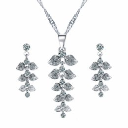 Eu tin online shopping - Bridesmaid Jewelry Sets for Wedding Silver Necklace Earrings Cheap EU Indian African Fashion Party Jewelry Sets