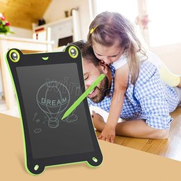 Wholesale 8 Inch Frog Pad LCD Writing Tablet eWriter Electronic Drawing Board Doodle Pad Graffiti with magnet Stylus pen Good Gifts for Children