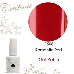 Barato Cristina Uv Gel-Atacado-Cristina gel uv 15ml 0,5 oz gel unha polonês 1508 Romantic Red envio gratuito