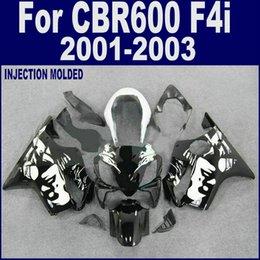 F4i Fairings Australia - Injection molding for HONDA CBR 600 F4i fairings 2004 2005 2006 2007 black CBR600 F4i fairing kits 04 05 06 07+7Gifts
